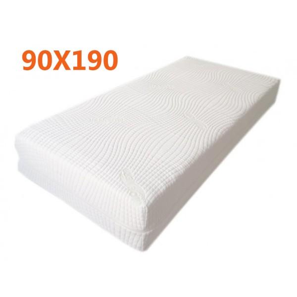 Materasso Memory 90x190 3 Strati Alto 25cm Con Sottofodera 9 Zone 2d Ortopedico E Anallergico Fodera In Aloe Vera