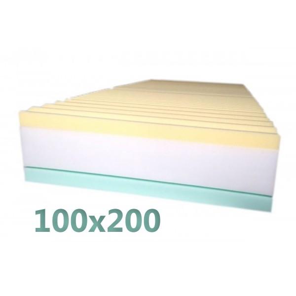 Materasso Ortopedico O Memory.Materasso Memory 100x200 3 Strati Alto 25cm Con Sottofodera 9 Zone