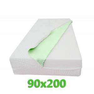 """Materasso Ortopedico 9 Zone 90X200 Singolo """"GOLIA"""" Alto 23 cm sfoderabile con fodera in ALOE VERA"""